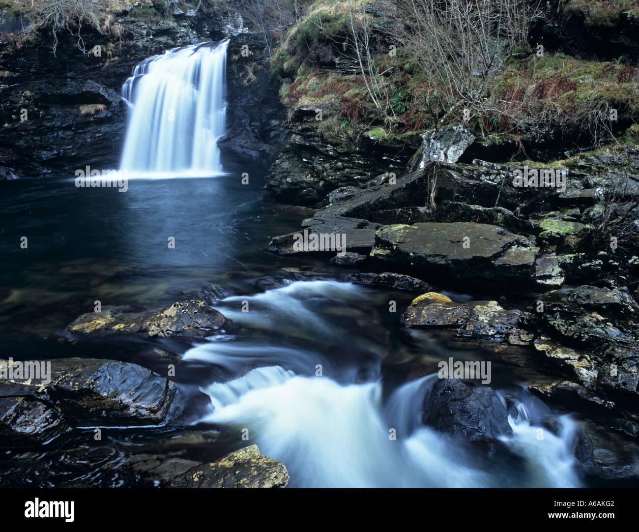 FALLS Of FALLOCH Waterfall In To Rob Royu0027s Bathtub On River Falloch Near  Crianlarich Stirling Scotland UK