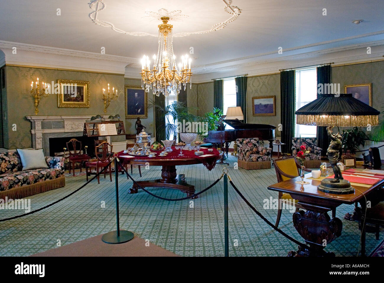Interior Of George Eastman House Rochester NY USA   Stock Image