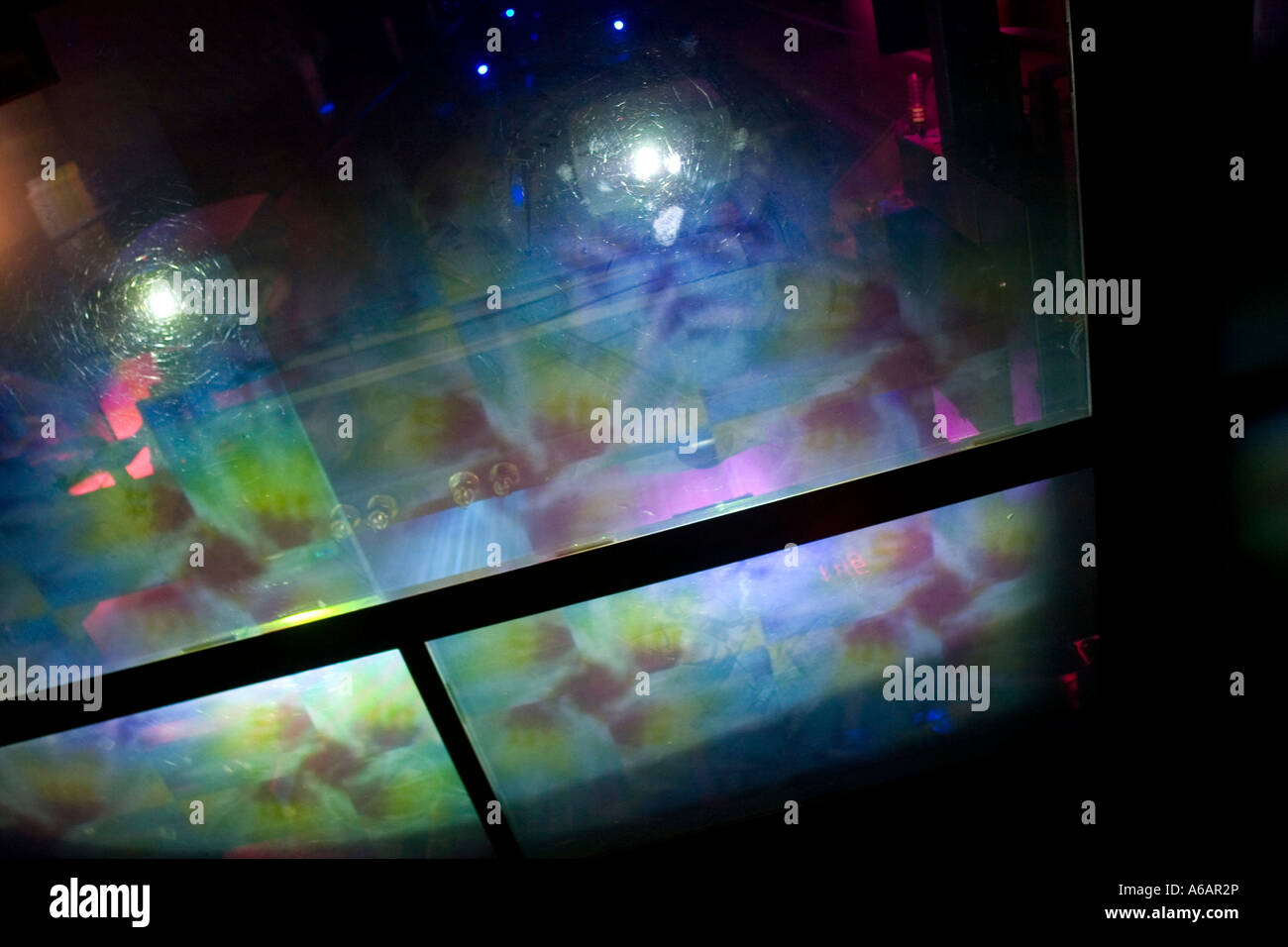 Light show in elevator to Top of the Rock. Rockefeller Center New York City NY USA Stock Photo