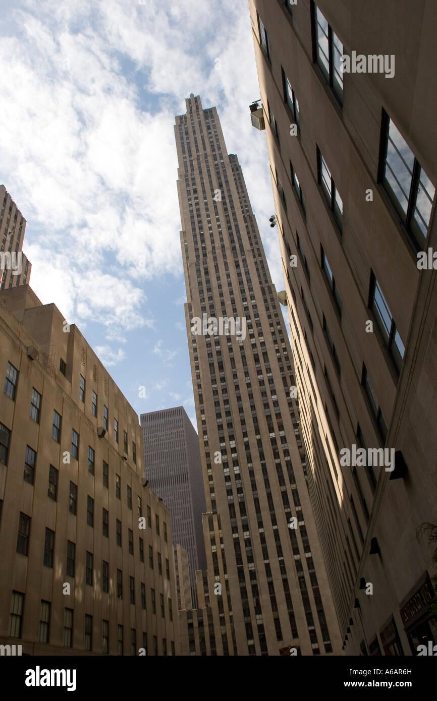 Rockefeller Centre Center New York NY USA - Stock Image