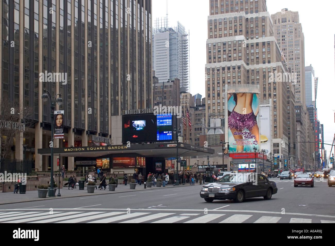 Penn Station and Madison Square Garden, Seventh Avenue New York City