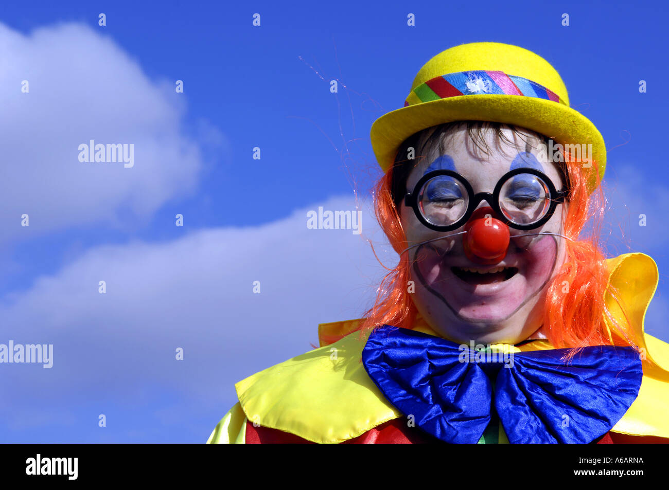 Theatrical Funny Clown Big Red Stock Photos Theatrical Funny Clown