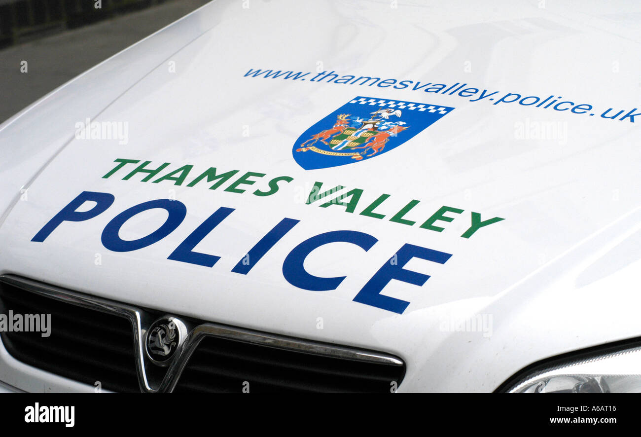 Thames Valley police car - Stock Image