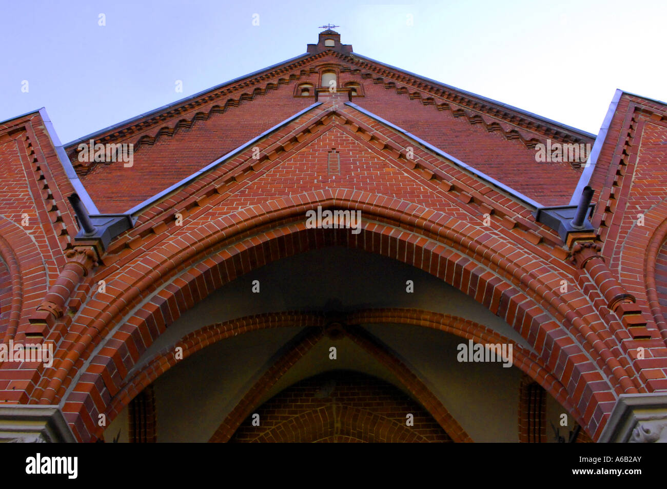 Elegant Red Brick Archway Church Building Architecture Arc Arch Design German  Germany Deutschland Horizontal
