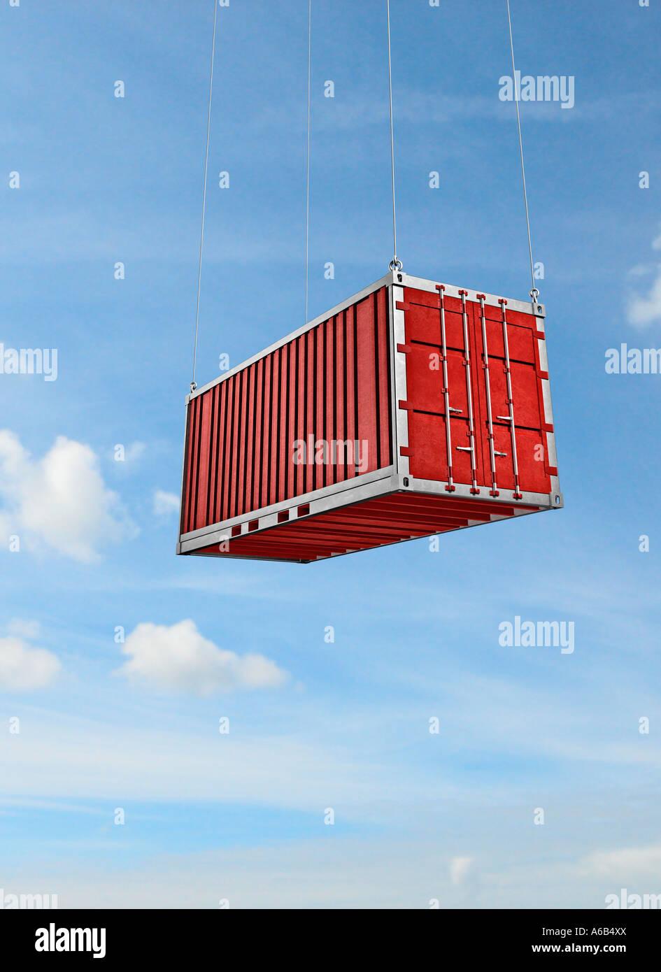 container symbol of economy export import cargo trade commerce logistics transportation sea see - Stock Image