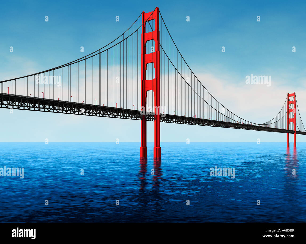 Golden Gate Bridge San Francisco USA United States of America - Stock Image