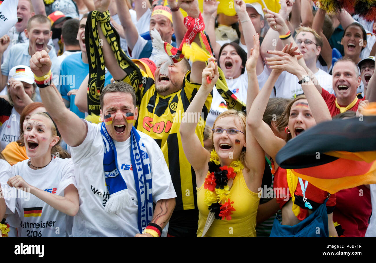 Football Fans Cheer Germany In Their Quarter Final Match Against