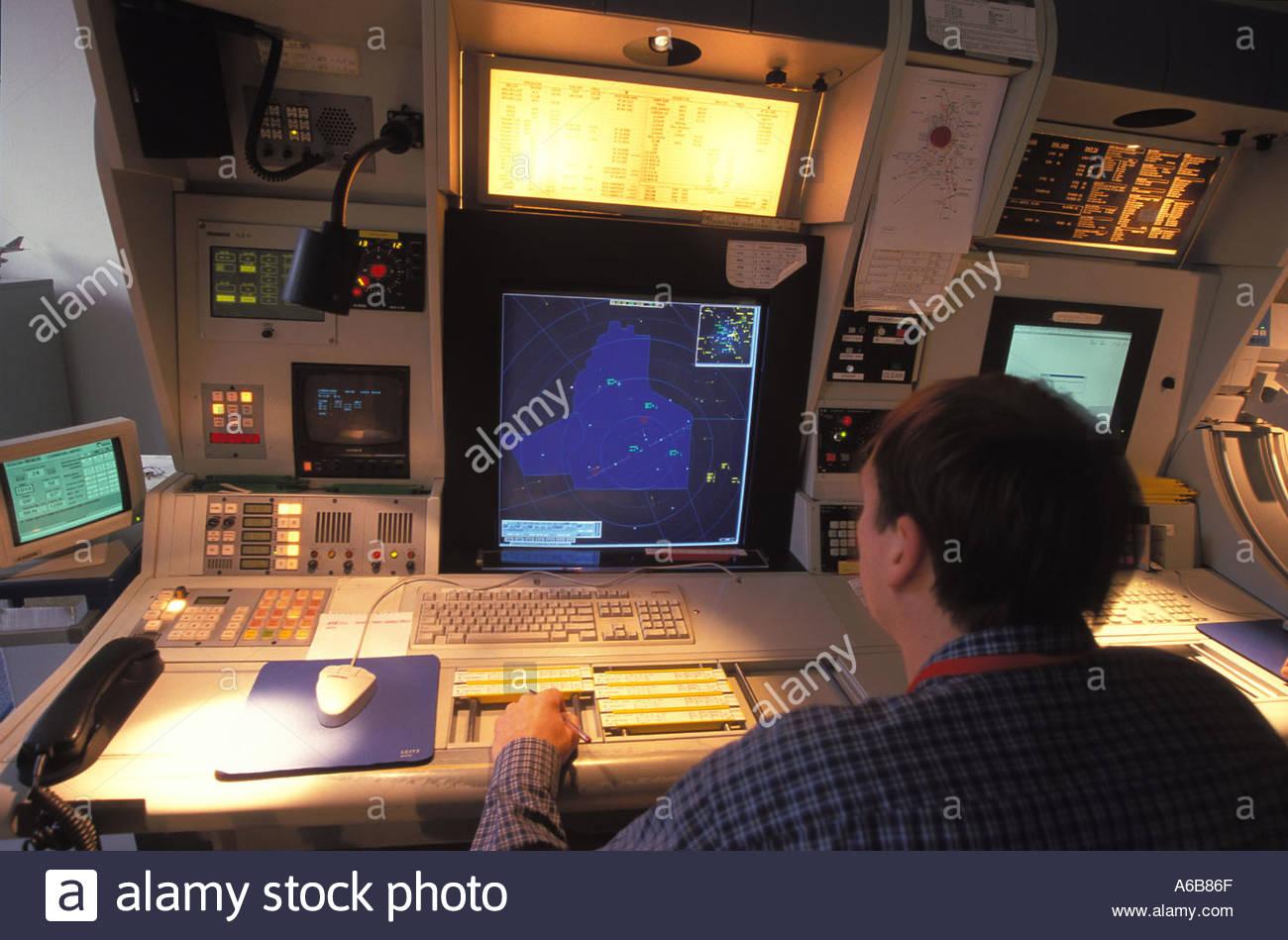 Aerial Transport Flight Control - Stock Image