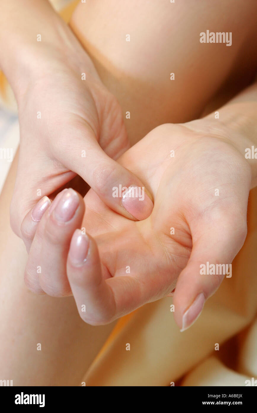 Acupressure Therapy Alternative Medicine - Stock Image