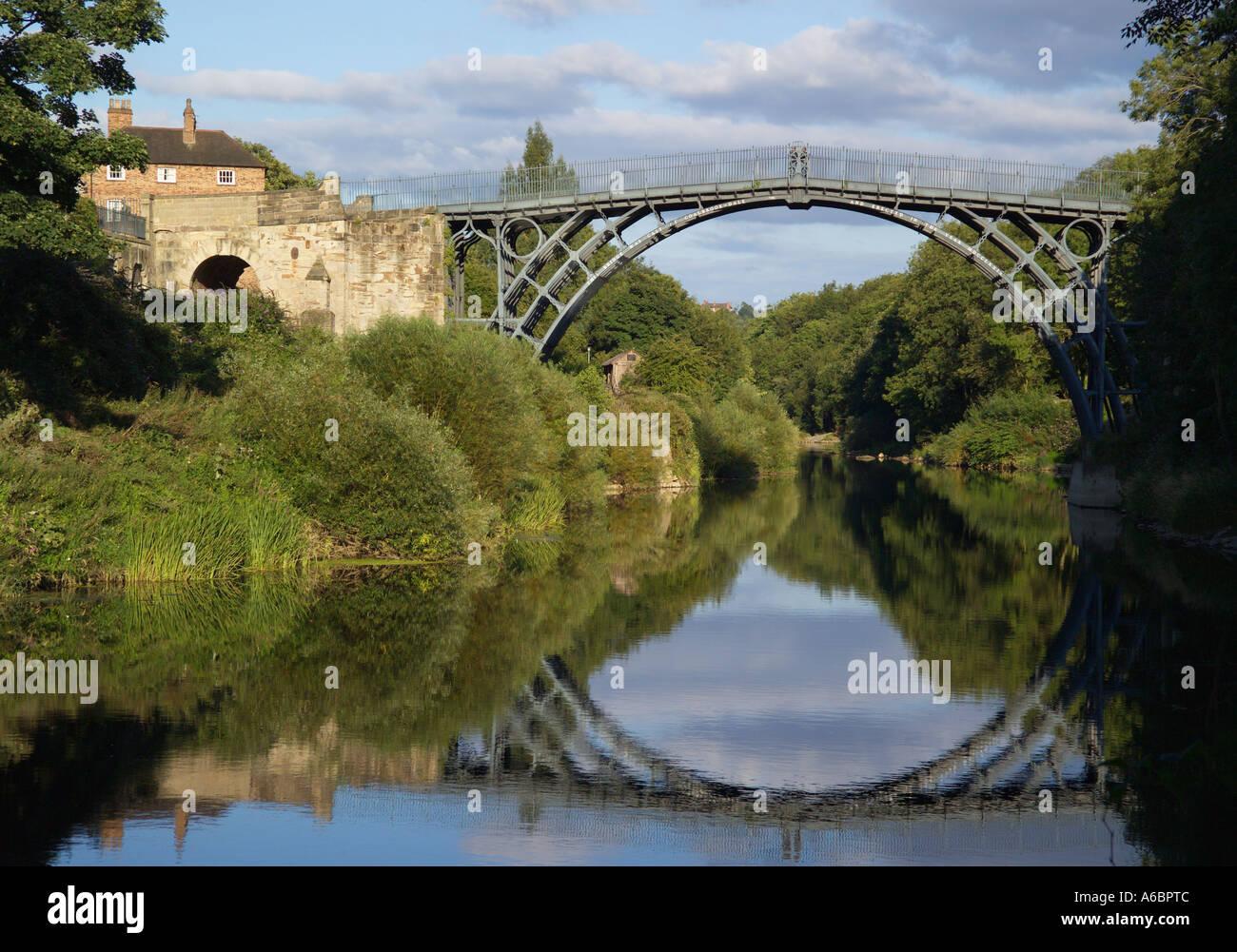 Bridge Ironbridge Shropshire England - Stock Image