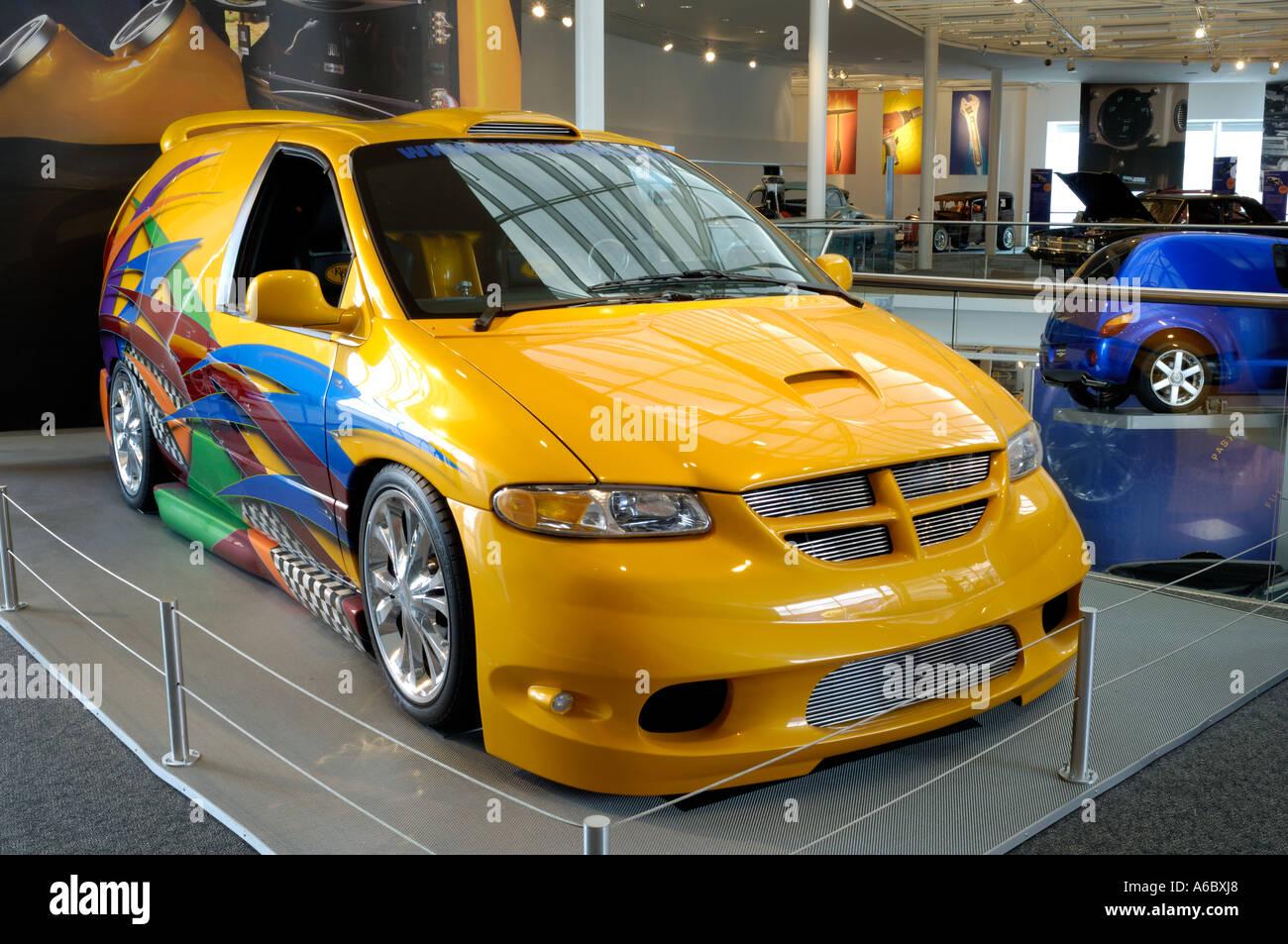 Custom 2001 Dodge Caravan Minivan At The Walter P Chrysler Museum In Auburn Hills Michigan