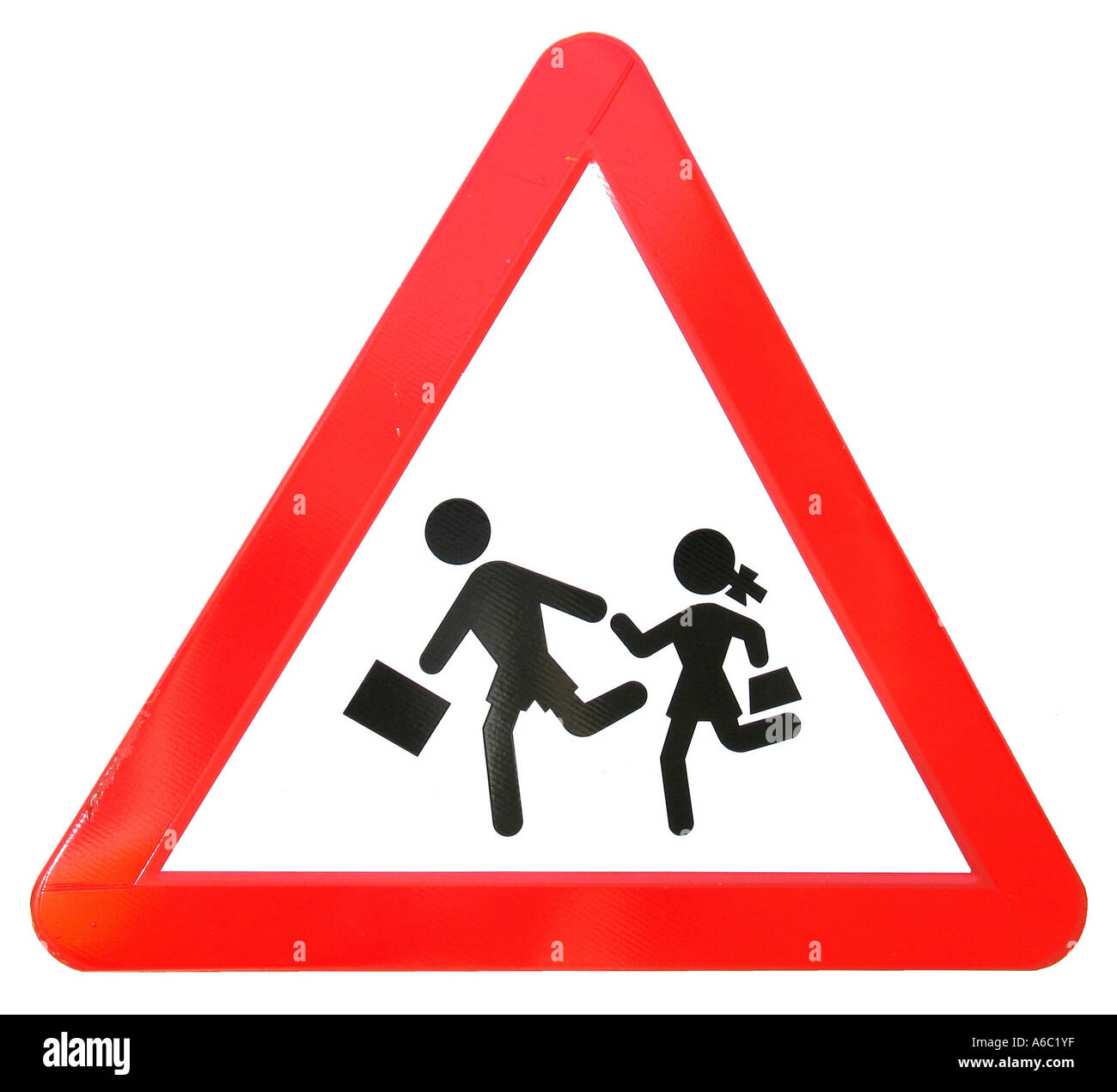 Take Care of Children Traffic Sign - Stock Image