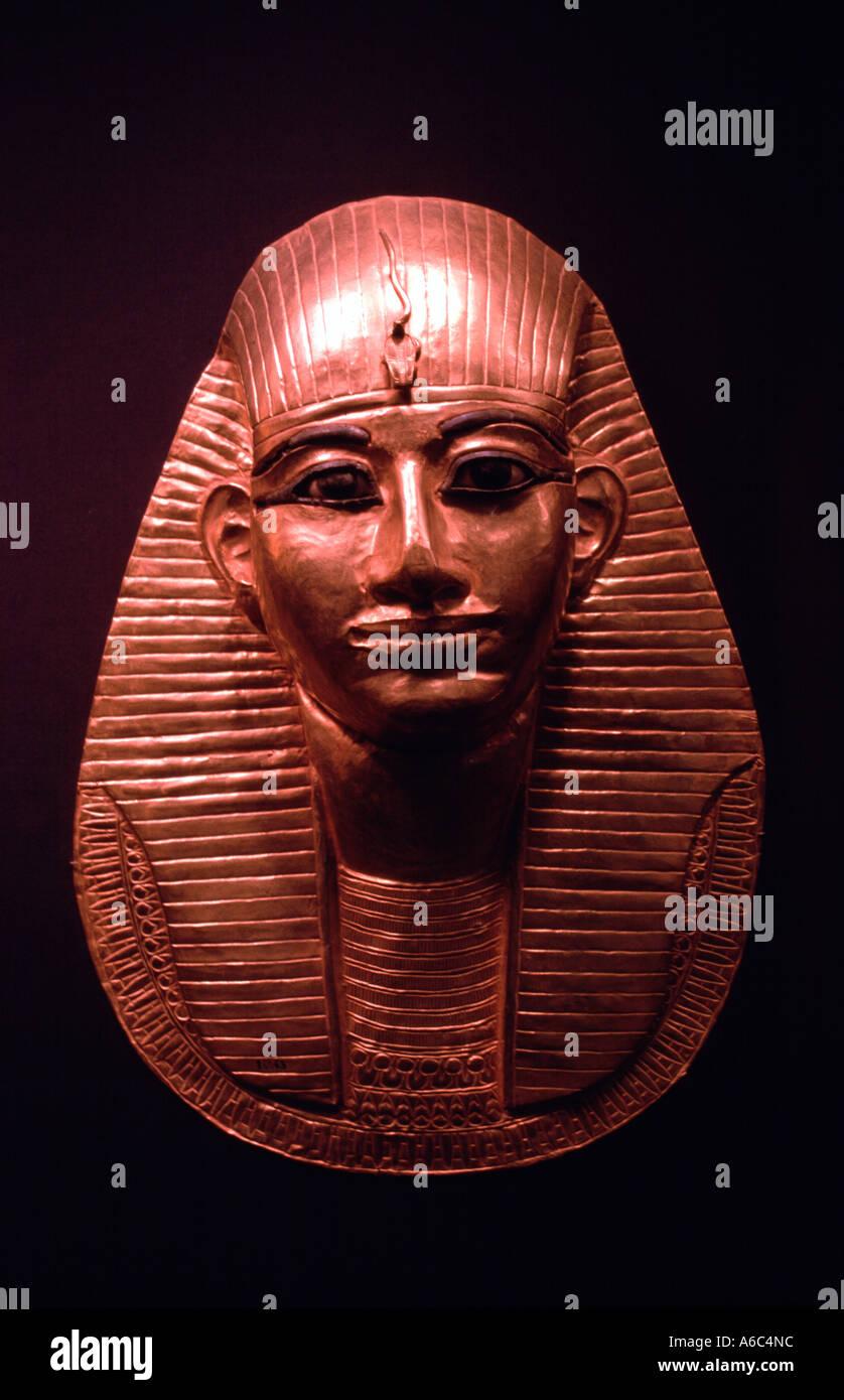 A bust of Tutankhamun - Stock Image