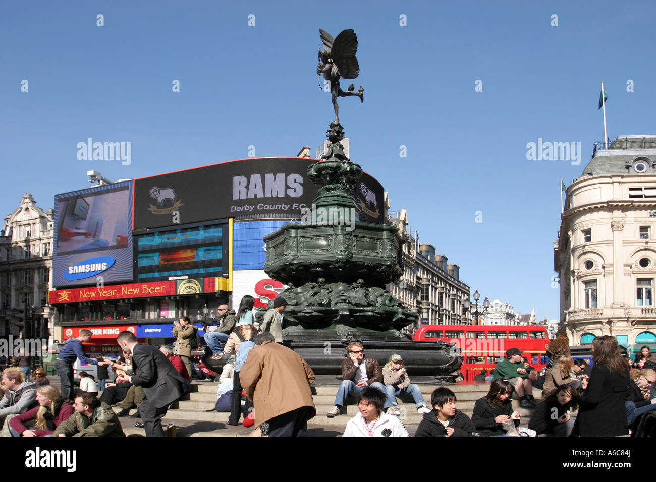 Piccadilly Circus, London - Stock Image