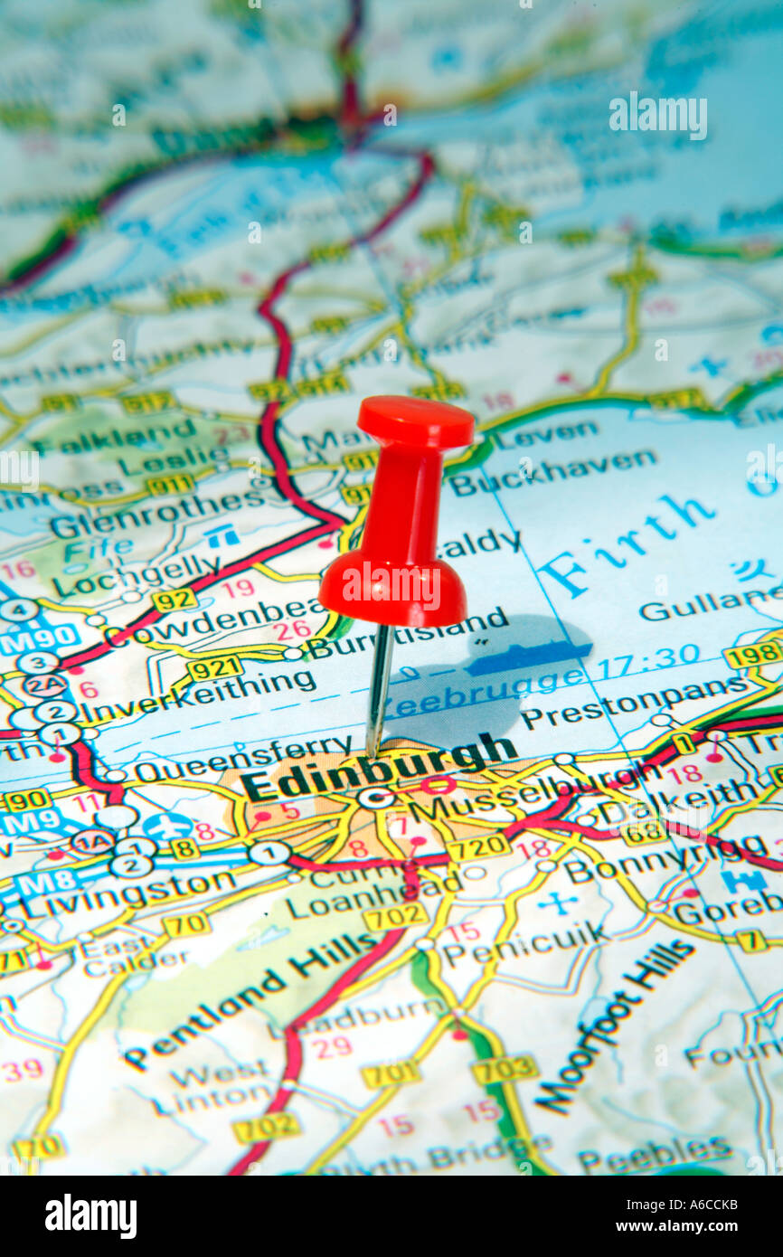 Map Pin pointing to Edinburgh , Scotland on a road map Stock ... Scotland On Map on sudan on map, belfast on map, sicily on map, rhine river on map, flanders on map, england on map, wales on map, europe on map, netherlands on map, isle of man on map, glasgow on map, balkans on map, switzerland on map, denmark on map, sardinia on map, edinburgh on map, scandinavia on map, slovenia on map, brussels on map, tibet on map,