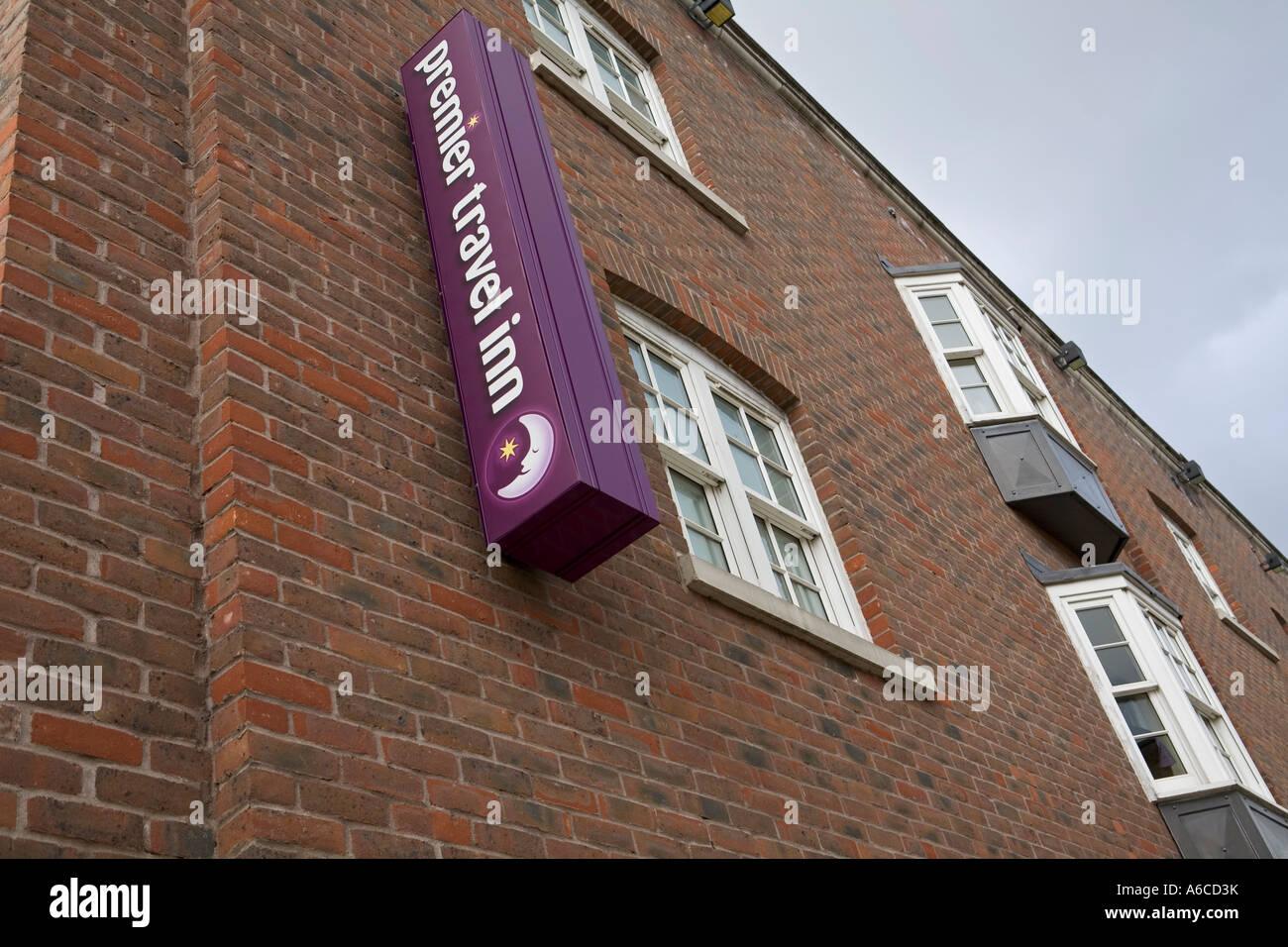 Premier travel inn South Bank London Premier travel inn is part of Whitbread Group - Stock Image