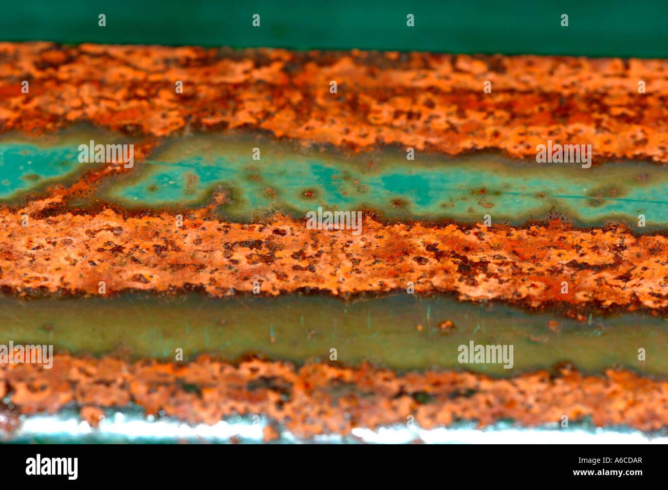 Rusting Metal Bar - Stock Image
