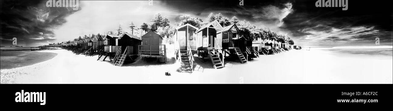 Beach Huts on Wells Beach, Norfolk - Stock Image