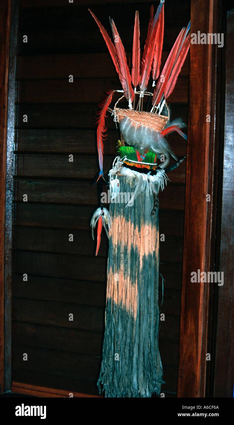 Indigenous artefact Canguçu research centre Tocantins Brazil - Stock Image