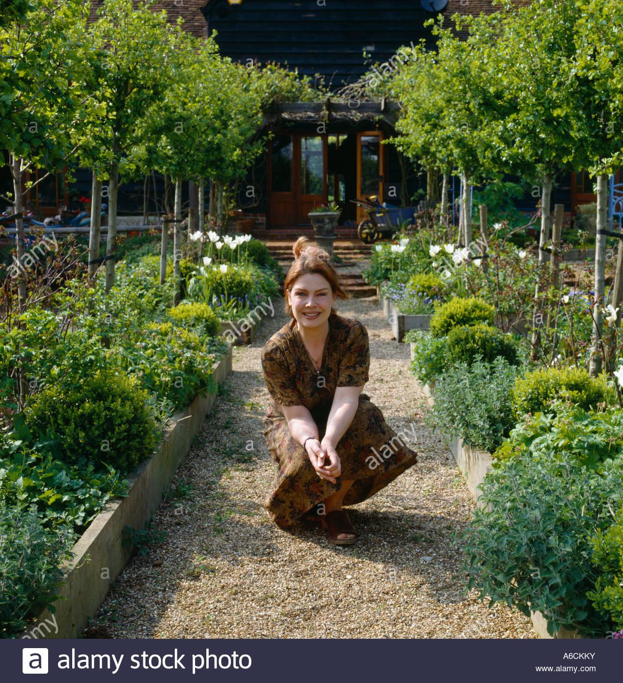 kim wilde in her garden 2003 stock image - Wilde Garden