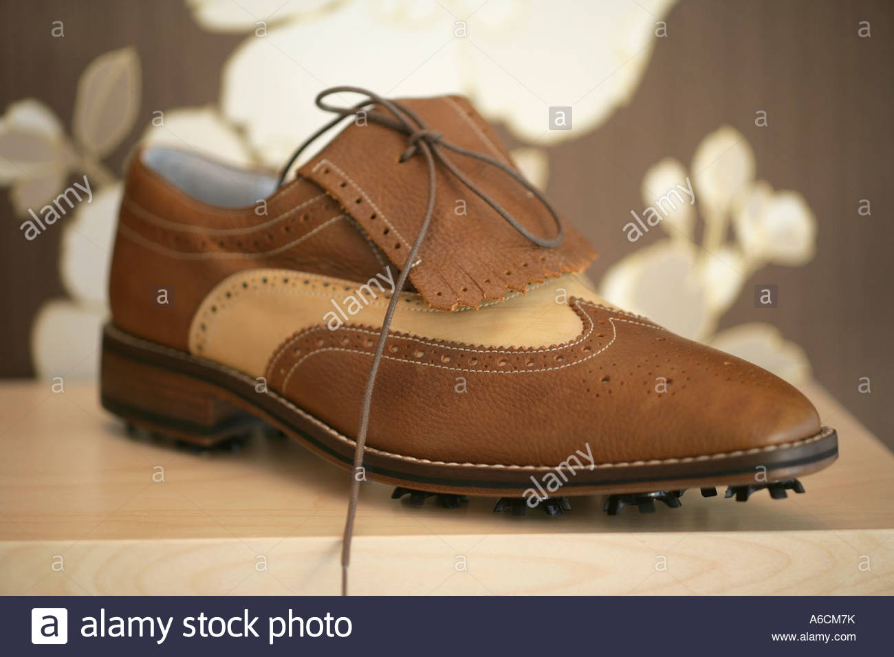 59427acae98 Golf shoes by William Hunt Stock Photo  11534742 - Alamy