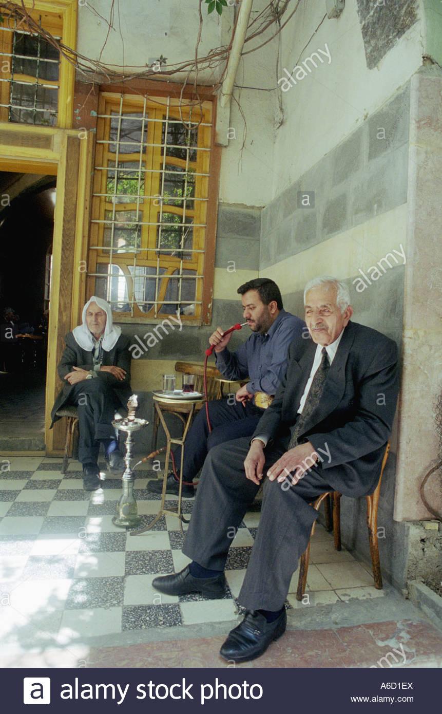 kafe i Damaskus Syrien Stock Photo
