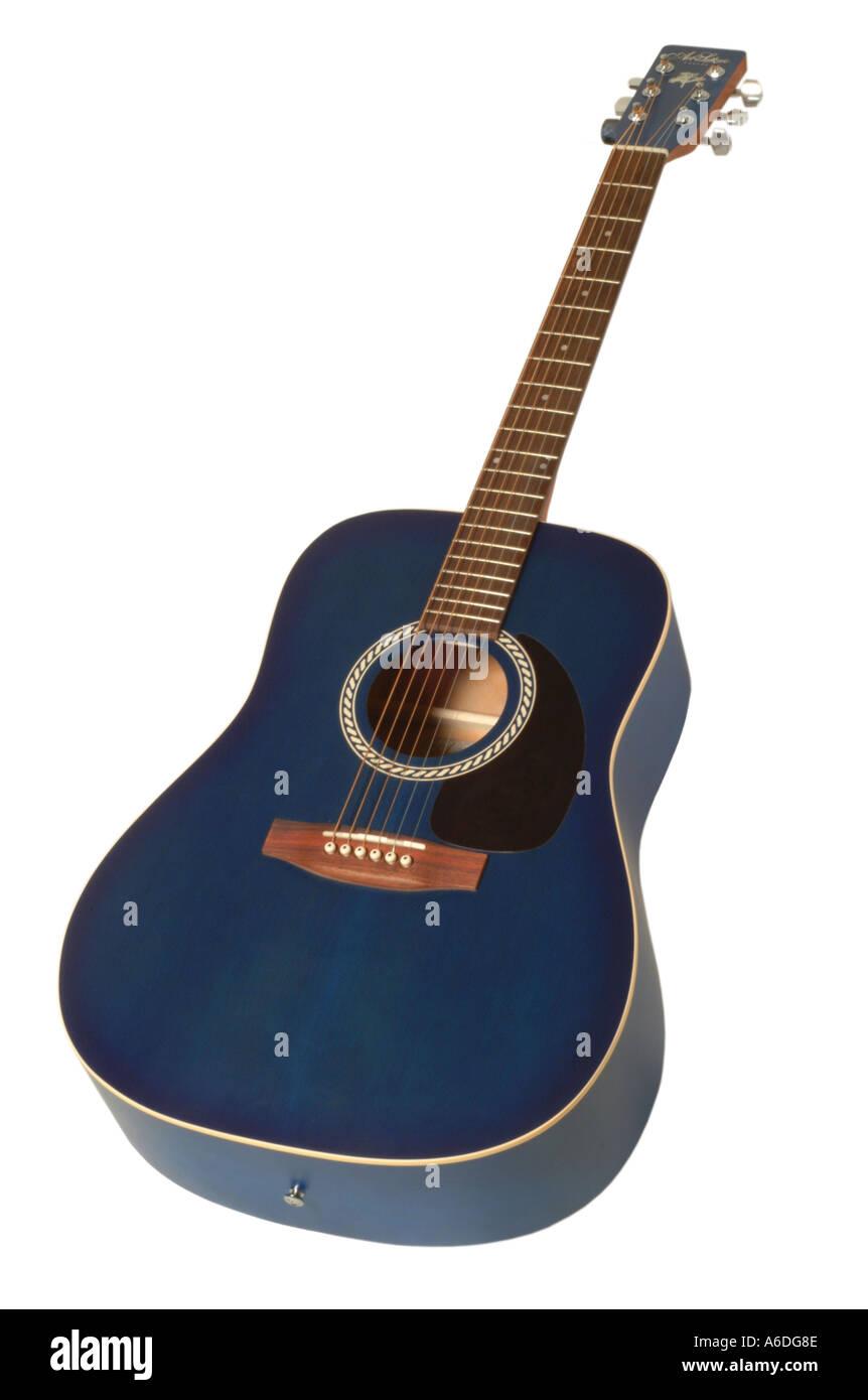 art lutheri solid cedar guitar  studio cutout cut out white background knockout dropout - Stock Image