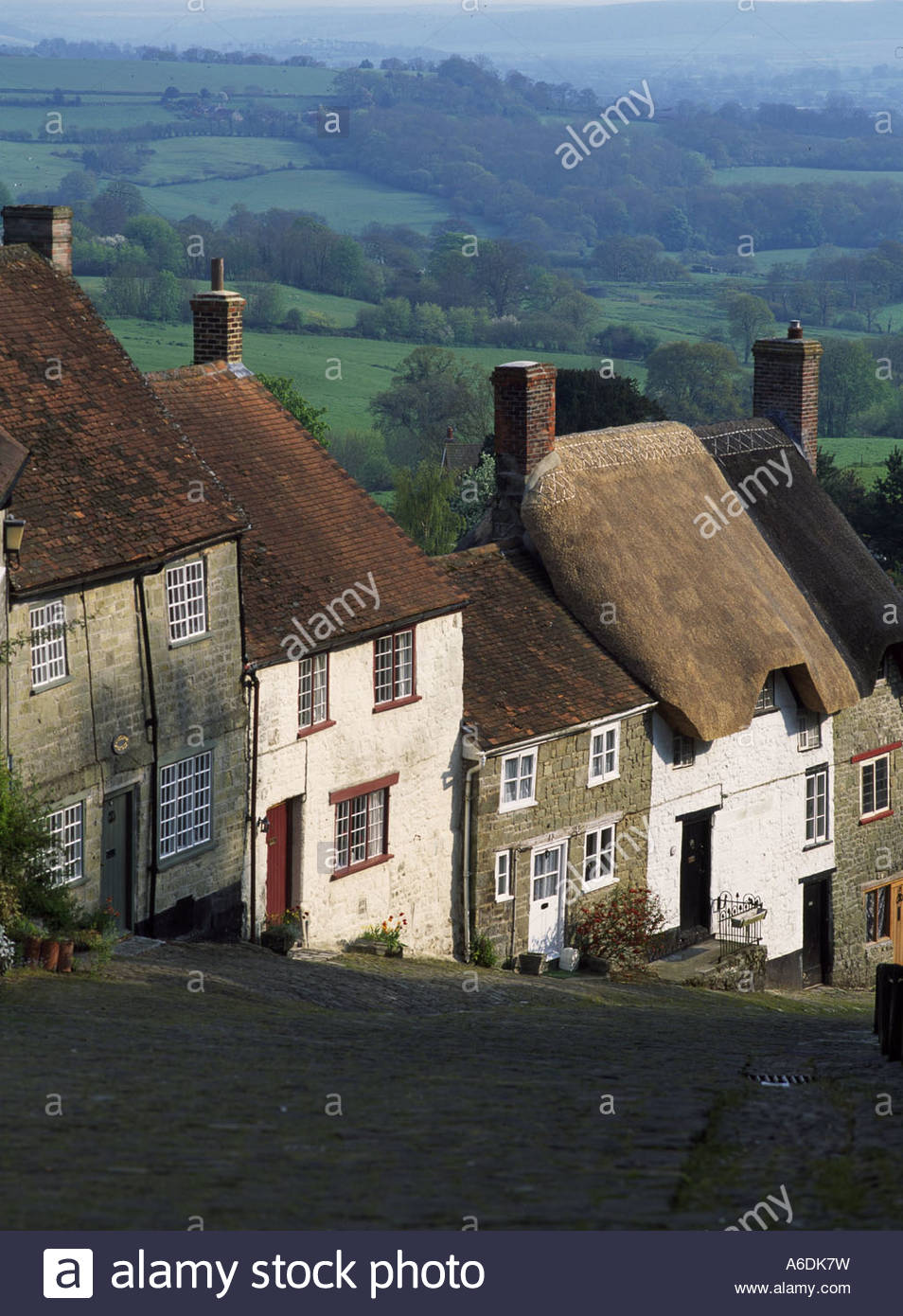High angle view of buildings, Dorset, England - Stock Image