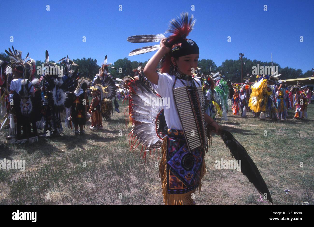Oglala Sioux at the Pine Ridge Powwow - Stock Image