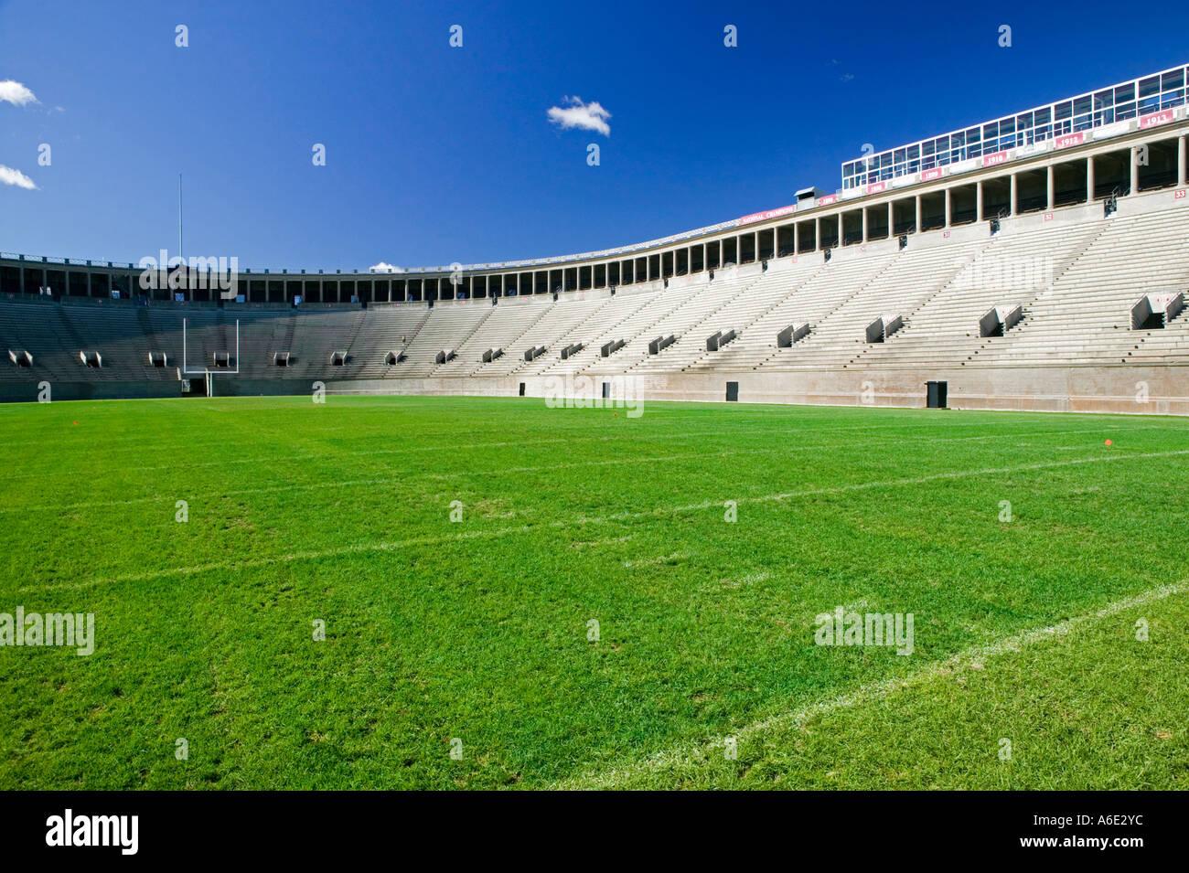 Harvard Football Stadium Cambridge Massachusetts USA Stock Photo