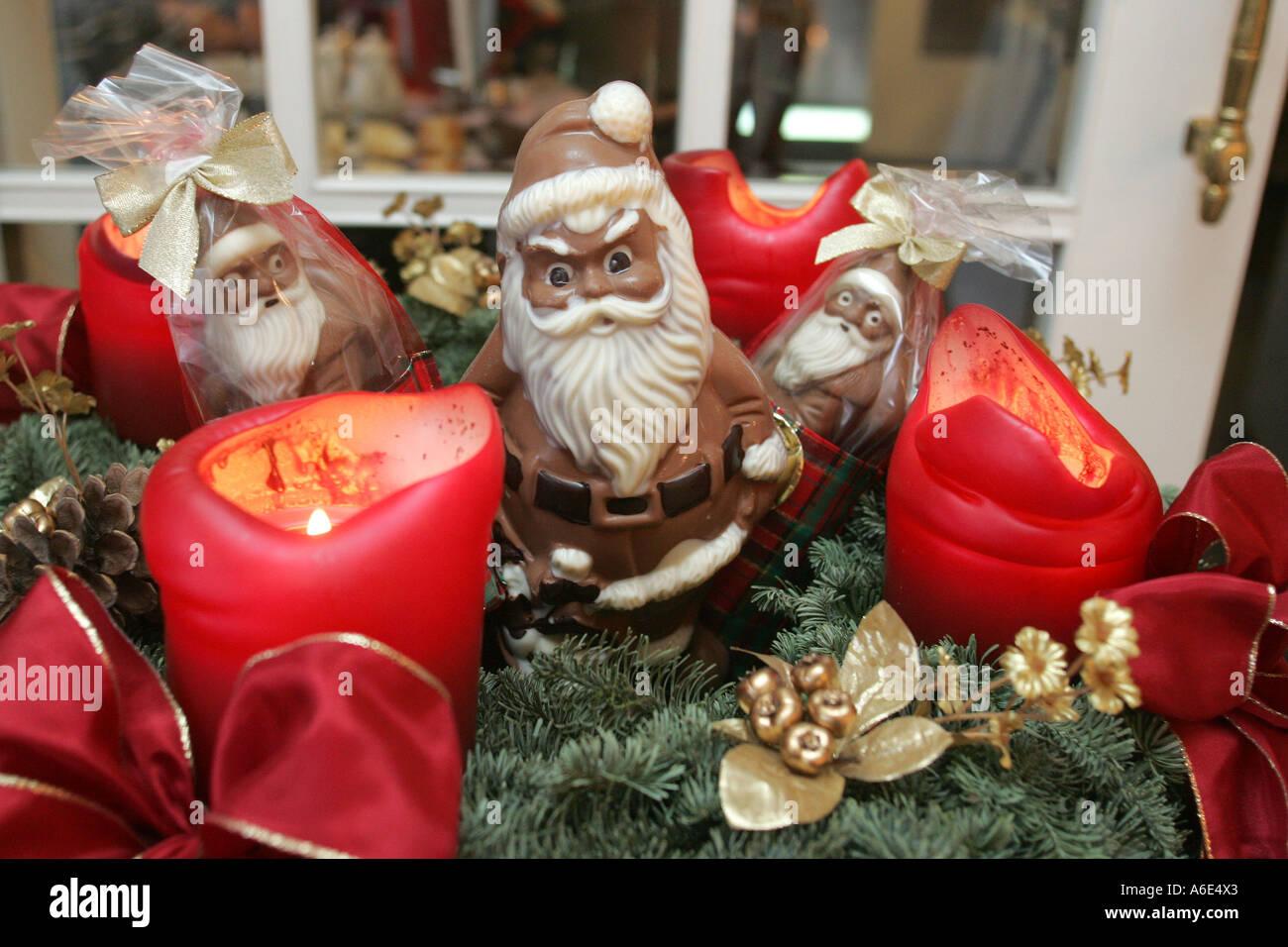 DEU Federal Republic Of Germany Mannheim Chocolate Santa Claus In A Advent Wreath