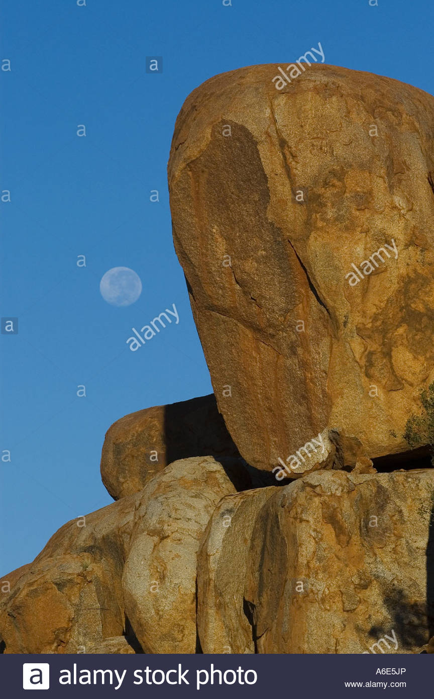 Devil Marbel with fullmoon - Stock Image