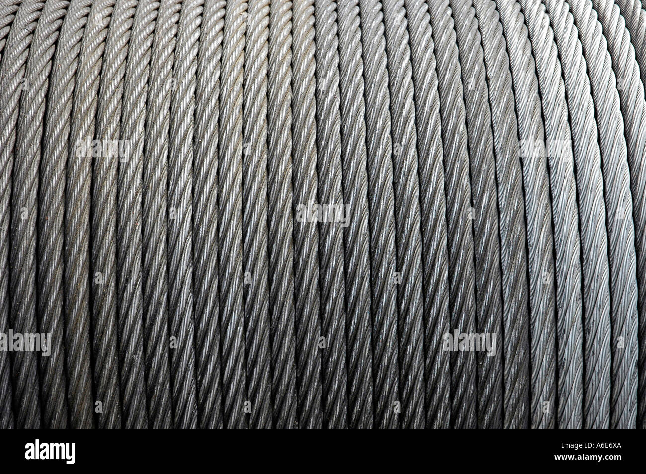 Unrolled wire-cables, wire-cable, roll, steel cable, draw works ...