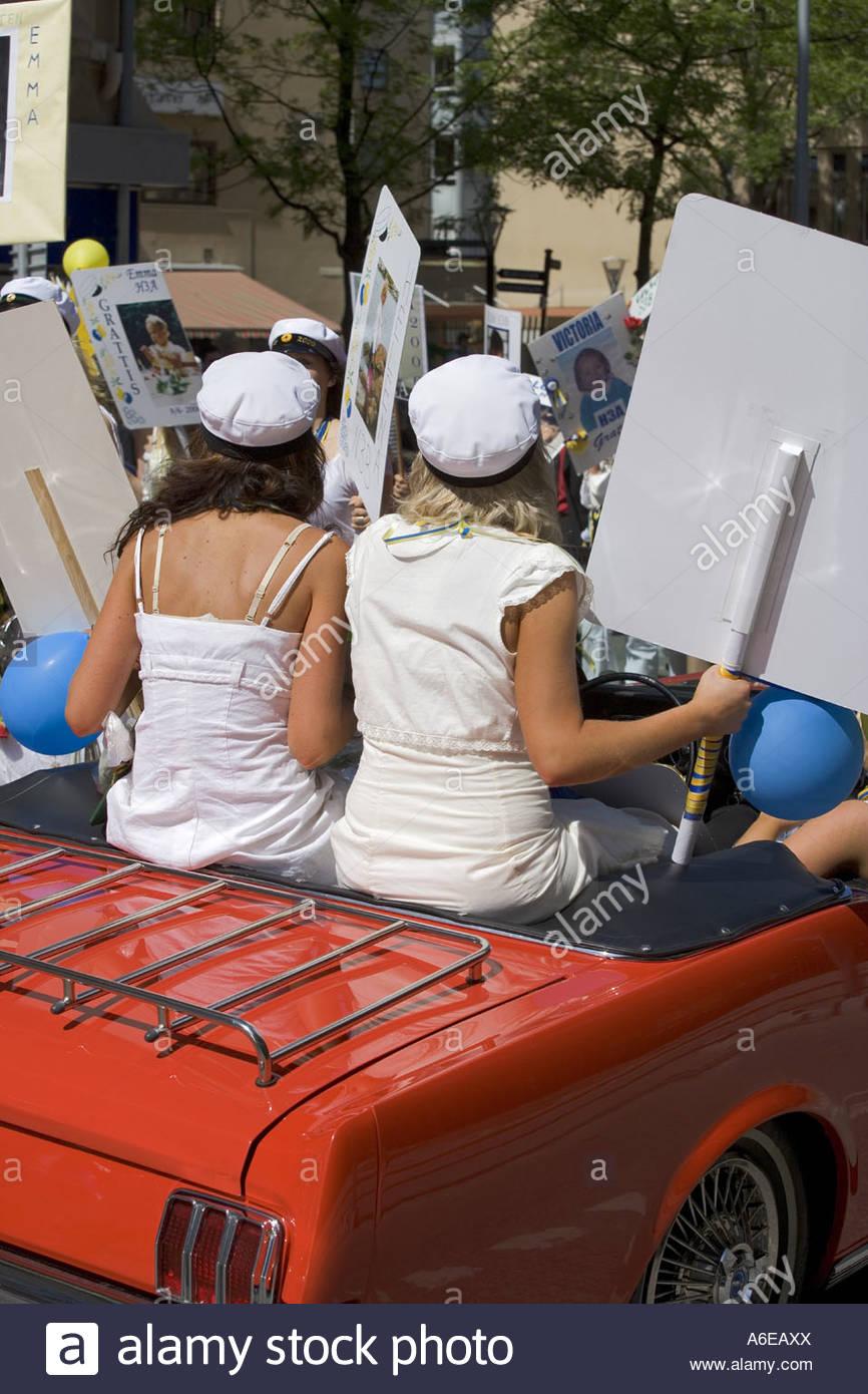 Kvinnliga studenter - Stock Image