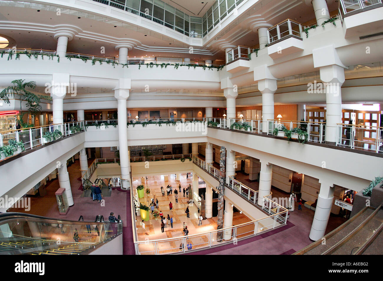 Classy interior of the Pan Pacific hotel in Vancouver, British Columbia, Canada - Stock Image