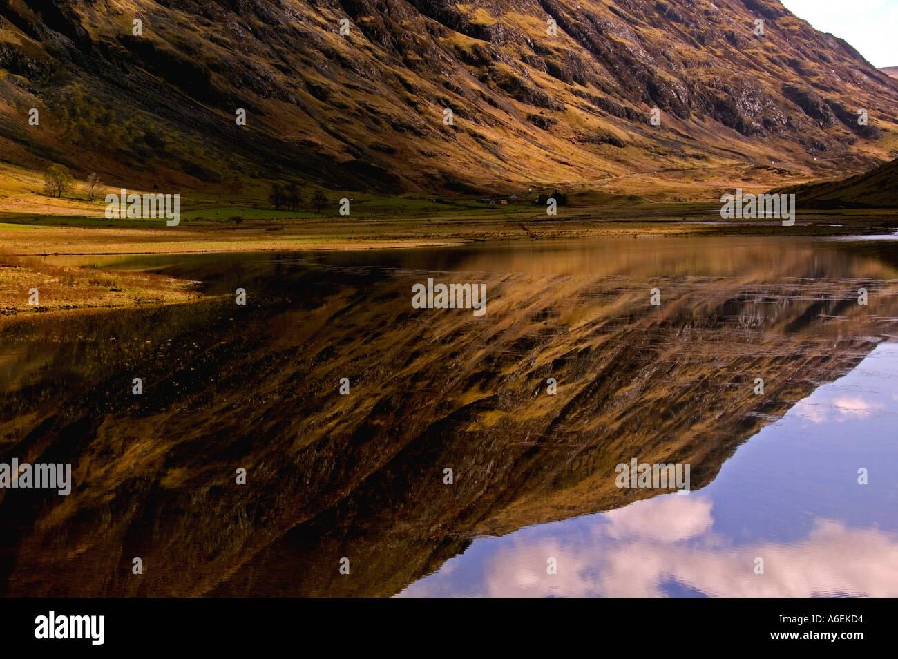 Loch Achtriochton Glencoe , - Stock Image