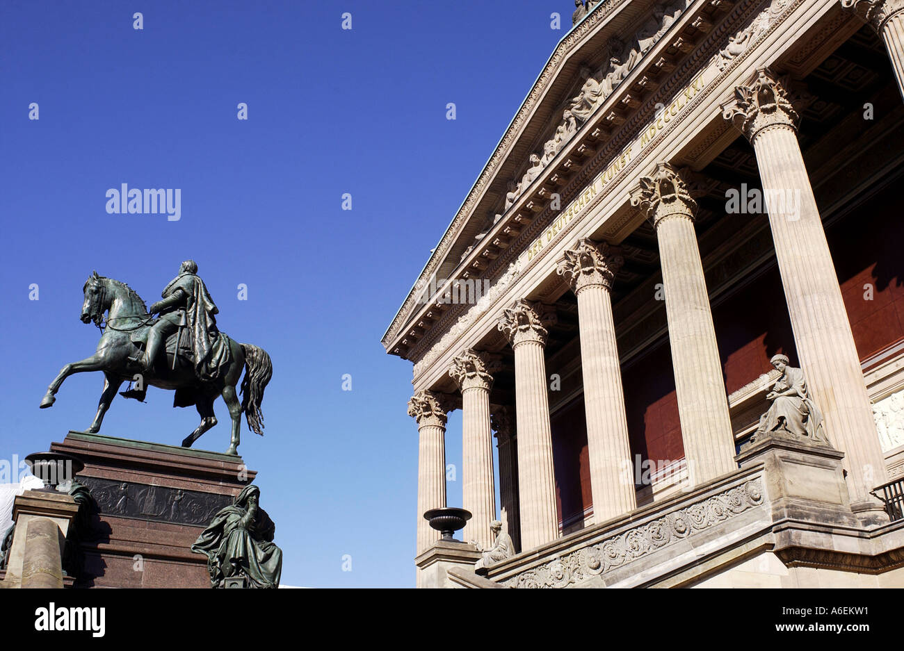 Old national gallery, museum on the museum island Stock Photo