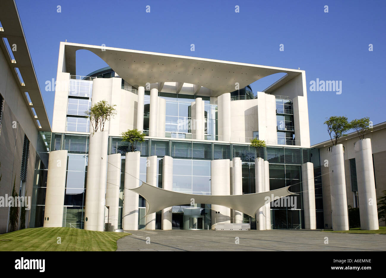 Federal Chancellery central tract - Stock Image