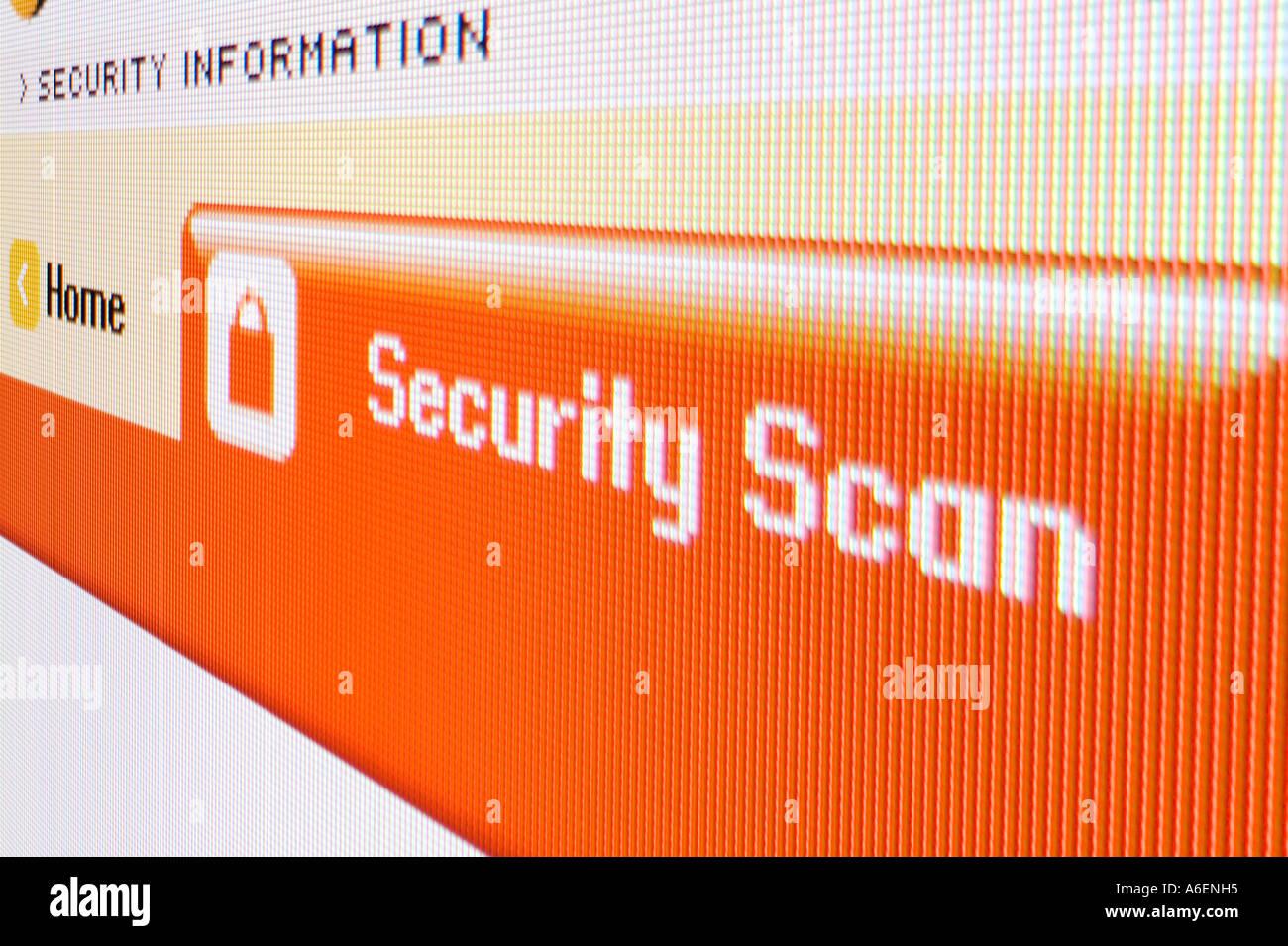 Screenshot Security Scan - Stock Image