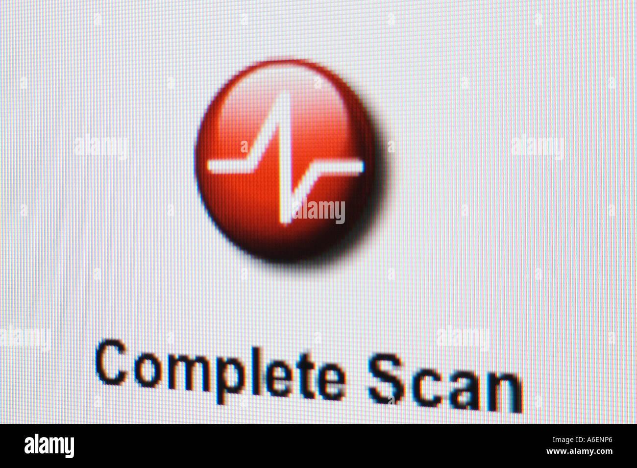 Screenshot Complete Scan - Stock Image