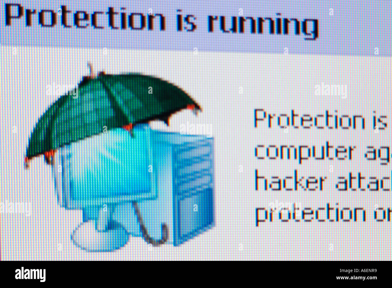 Screenshot Protection is running - Stock Image