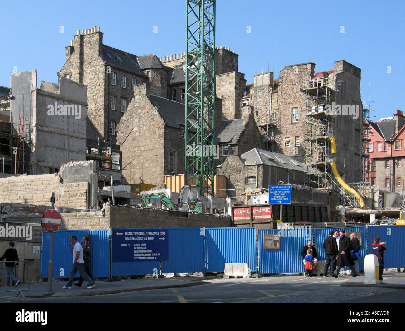 The site of the demolished Lothian Region Council HQ on George IV Bridge, Edinburgh - Stock Image