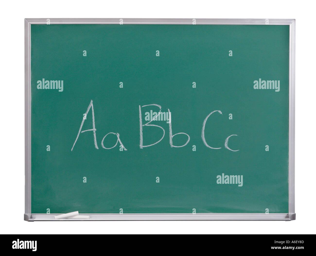 Aa Bb Cc written on chalkboard Stock Photo