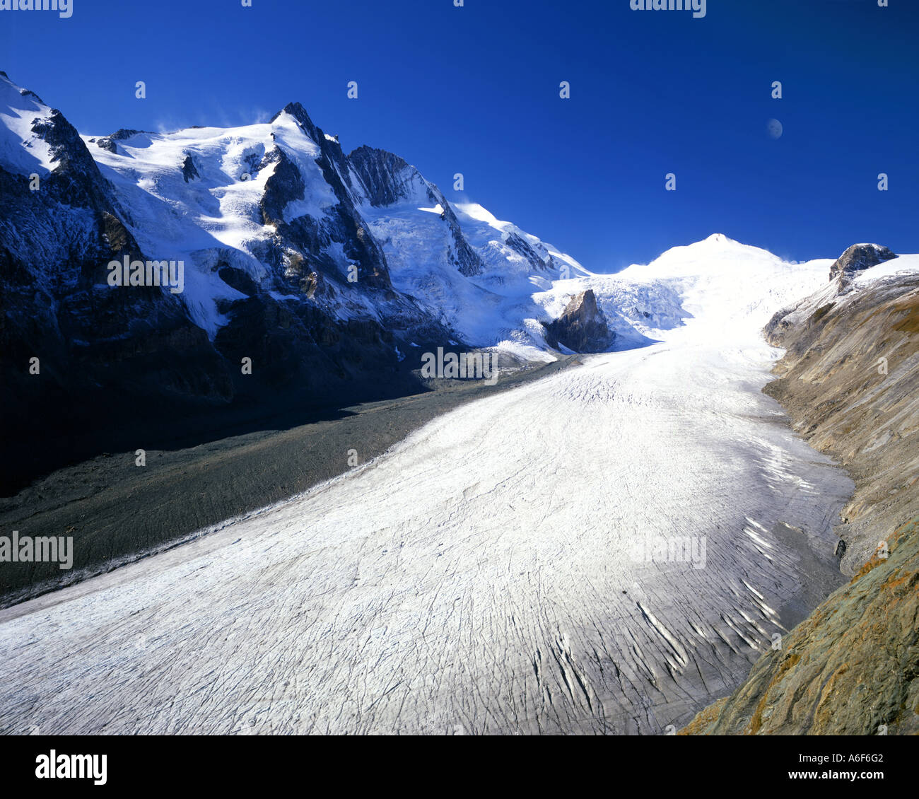 AT - CARINTHIA: The Grossglockner Glacier and Pasterze Glacier - Stock Image