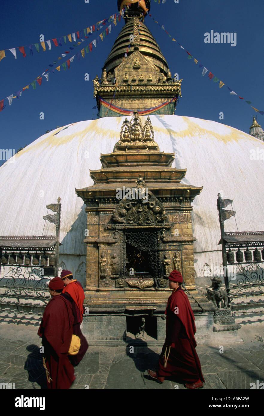 Monkey Temple Katmandu - Stock Image