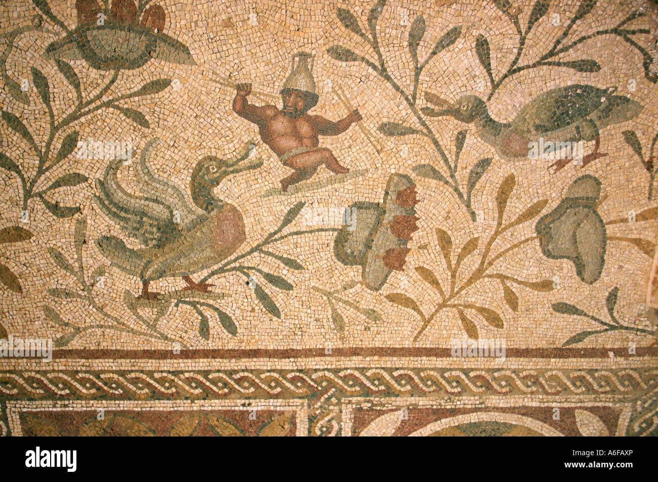 Roman tile mosaic floor