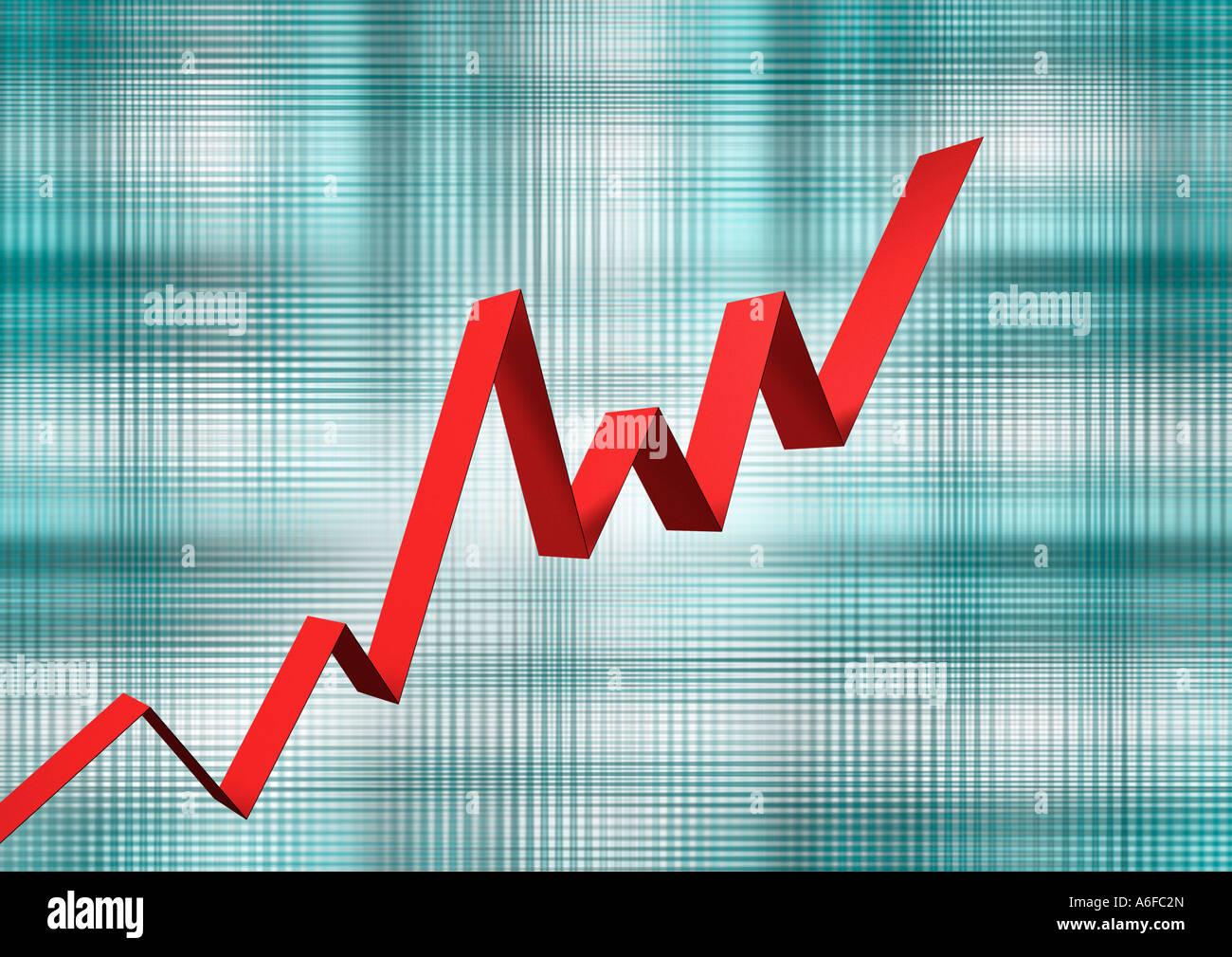 chart stock market index Börsenchart Kurve Kurs Stock Photo