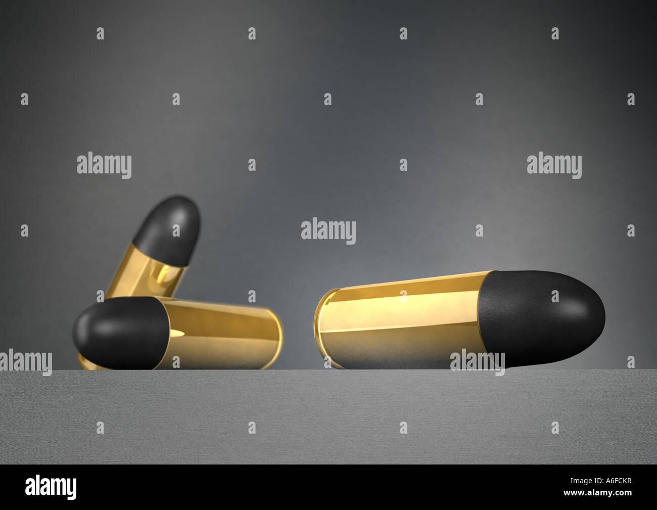 bullet bullets Patronen - Stock Image