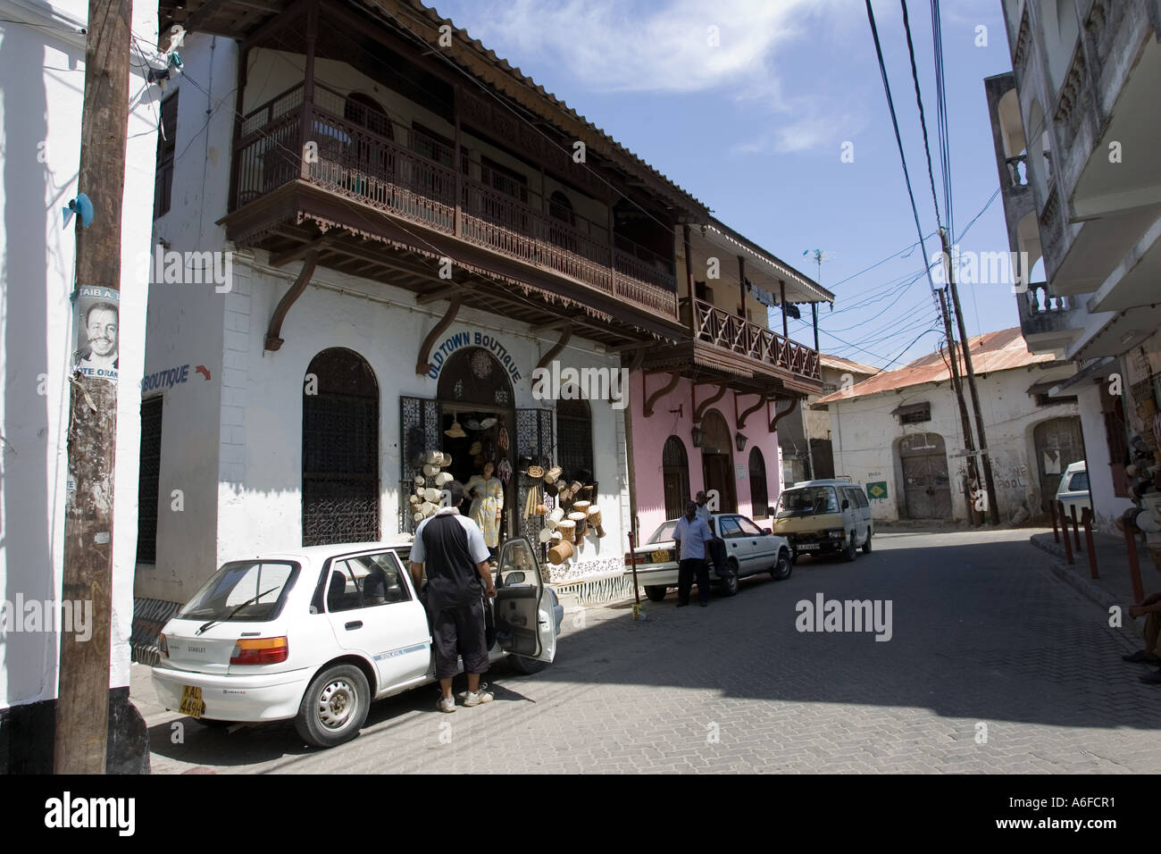 Traditional Swahili buildings in Old Town Mombasa Kenya East Africa - Stock Image