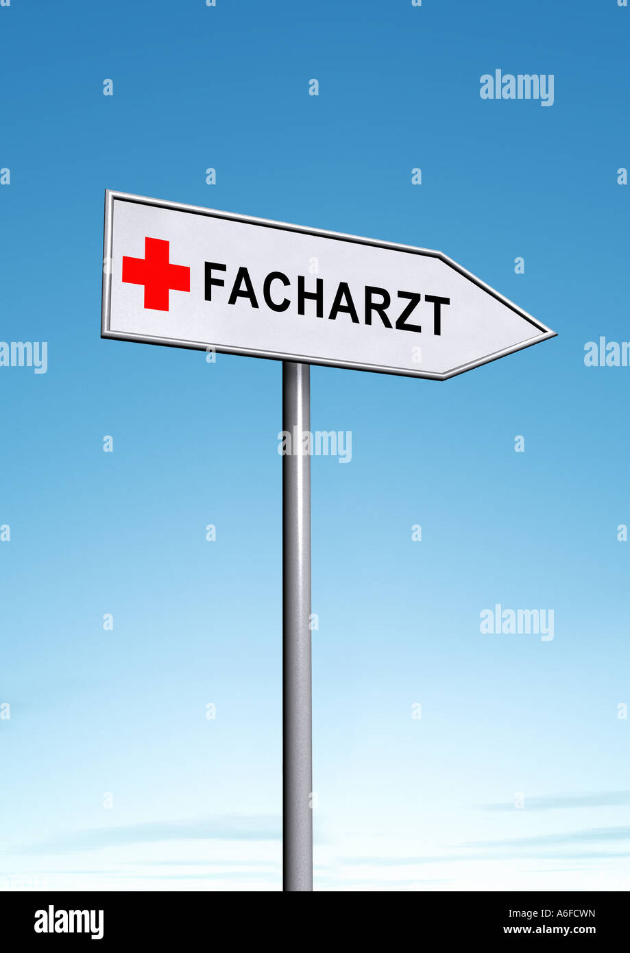 medical specialist Facharzt Stock Photo